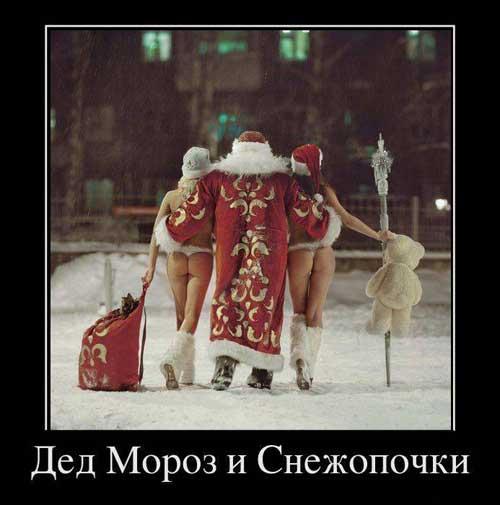 Прикольные фото Дедов Морозов