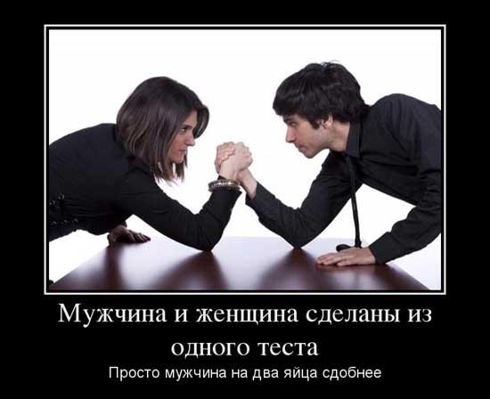 Демотиваторы про мужчин и женщин