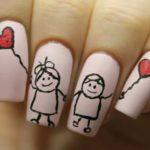 Необычные рисунки на ногтях — фото