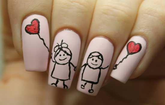 Необычные рисунки на ногтях - фото