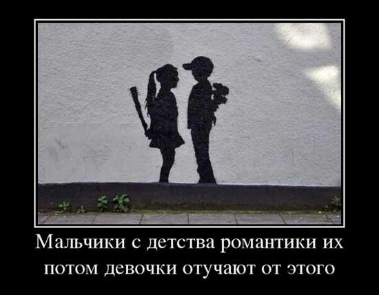 Демотиваторы о любви и отношениях
